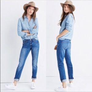 Madewell Slim Boyjean Boyfriend High Rise Jeans